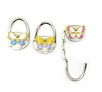 "Вешалка для женской сумочки ""бабочка-замок"" (6,5х4,5х1,5 см)"