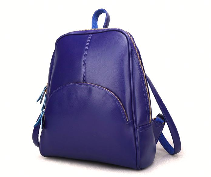Рюкзак женский кожаный Hilary Синий
