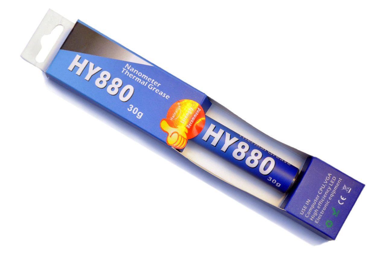 Термопаста Halnziye HY880 x 30г шприц (TU30G) серая 5.15 Вт/(м*К) теплопроводящая (TPa-HY880-30-BX)