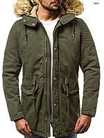 Парка мужская Comanda хаки зимняя. (Только М XL) Куртка удлиненная зеленая теплая