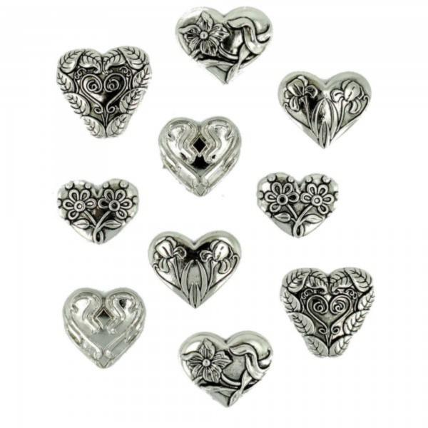 14 Украшение. Сердца серебряные