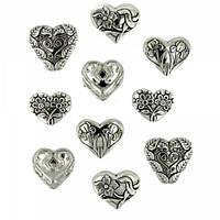 14 Прикраса. Серця срібні