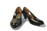 Туфли кожаные на каблуке, фото 1