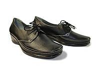 Женские кожаные туфли на платформе, фото 1