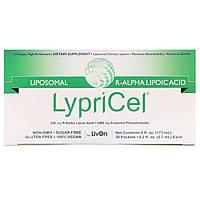 LypriCel, Липосомальная R-альфа-липоевая кислота, 30 пакетиков, 0,2 жидкой унции (5,4 мл) каждый, фото 1