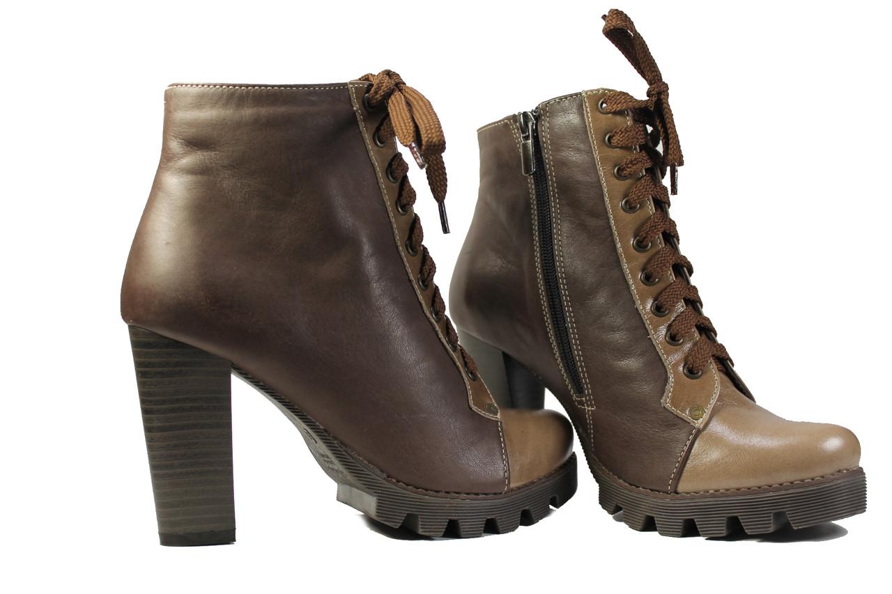 772793b2 Купить Женский ботинок на каблуке и шнуровке по лучшей цене в ...