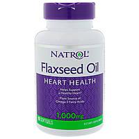 Natrol, Масло льняных семечек, 1000 мг, 90 мягких капсул, фото 1