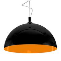 Люстра подвесная Nowodvorski 6373 Hemisphere black-orange fluo