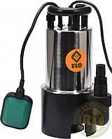 Насос для грязной воды FLO сетевой 750 Вт 14000 л/ч макс.высота - 14,5 м, корпус из нержавеющей стали Flo 79790