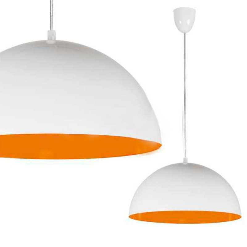 Люстра подвесная Nowodvorski 6374 Hemisphere white-orange fluo