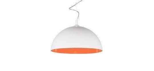 Люстра подвесная  Nowodvorski 6375 Hemisphere white-orange fluo