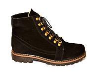 """Зимние женские ботинки замшевые на шнуровке.  ТМ """"Maestro"""""""
