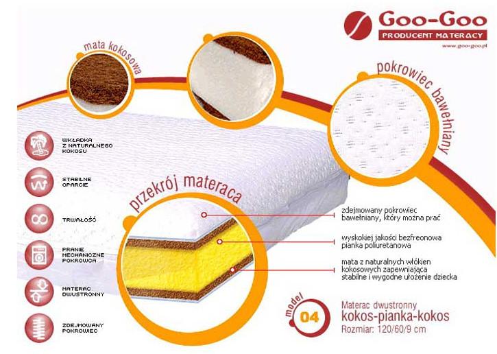 Дитячий матрац Goo-goo 120x60x9 см.