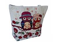 Летняя текстильная сумка для пляжа и прогулок Влюбленные совы