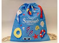 Летняя сумка-рюкзак для пляжа и прогулок Лазурное море