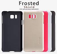 Чехол для Samsung Galaxy S5 Alpha G850F - Nillkin Super Frosted Shield (пленка в комплекте)