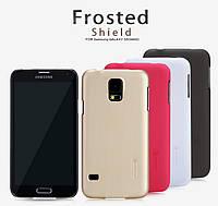 Чехол для Samsung Galaxy S5 G900 - Nillkin Super Frosted Shield (пленка в комплекте)