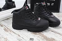 Кроссовки зимние FILA черные. Аналог, фото 1