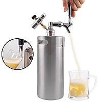 2/4 / 5L Homebrew Growler Мини-кег из нержавеющей стали Барное производство пива Набор Клапан - 1TopShop