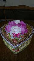 """Тортик из конфет """"Сердце"""""""