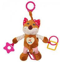 Іграшка-підвіска з вібрацією Лисиця Baby mix STK-17509 рожева