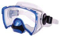 Маска для плавания ZEL ZP-264TSS (термостекло, силикон, пластик, жёлтый, синий, серебро, черный)