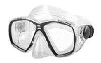 Маска для плавания ZEL ZP-276TPP (термостекло, PVC, пластик, желтая, синяя, красная, черная)
