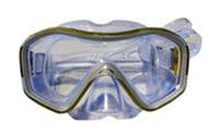 Маска для плавания ZEL ZP-296TSS (термостекло, силикон, пластик, желтый, черный, синий, красный)