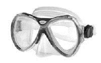 Маска для плавания ZEL ZP-M301TSS (термостекло, силикон, пластик, синий, желтый, красный, серый)