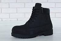 "Зимние ботинки на меху Timberland Classic Premium ""Black"" (Черные) (реплика А+++ ), фото 1"
