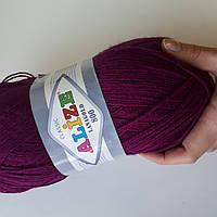 Пряжа нитки для вязания Lanagold Ланаголд 800 фуксия