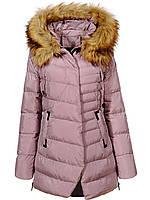 Куртка женская теплая Glostory пудра