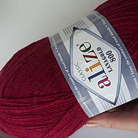 Пряжа нитки для вязания Lanagold Ланаголд 800 рубин