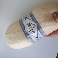 Пряжа нитки для вязания Lanagold Ланаголд 800 молочный