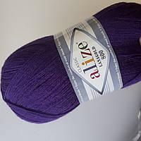 Пряжа нитки для вязания Lanagold Ланаголд 800 фиолетовый