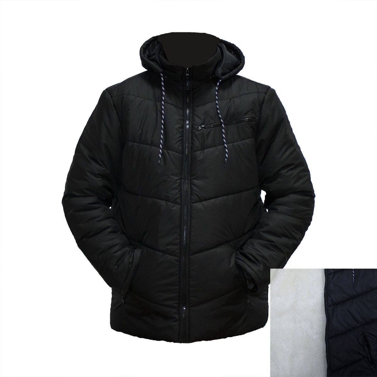 7989255933a1 Зимние мужские куртки на овчине фабричный пошив пр-во Украина E1832H ...