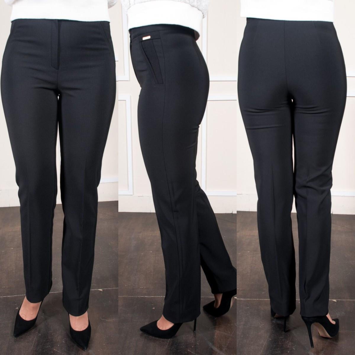 Женские классические черные брюки больших размеров Шарлота