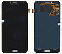 Дисплей + сенсор Samsung J400 J4 ( J2018) Чорний LCD TFT, з регулюванням яскравості