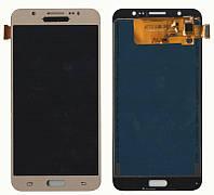 Дисплей + сенсор Samsung J710 J7 (2016) Золотий LCD TFT, з регулюванням яскравості