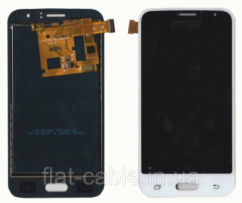 Дисплей + сенсор Samsung J120 J1 (2016) Белый LCD TFT с регулировкой яркости