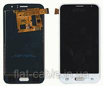 Дисплей + сенсор Samsung моделі j120 J1 2016 Білий TFT LCD, з регулюванням яскравості