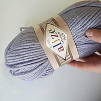 Пряжа нитки для вязания Alize Lanagold Plus полушерсть серый
