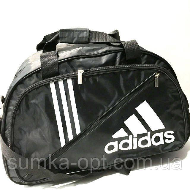 Дорожные спортивные сумки Adidas из плащевки (черный)31*50см
