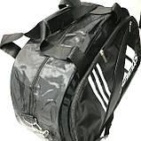 Дорожні спортивні сумки Adidas з плащової тканини (чорний)31*50см, фото 2