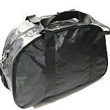 Дорожные спортивные сумки Adidas из плащевки (черный)31*50см, фото 3