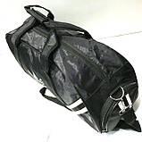 Дорожні спортивні сумки Adidas з плащової тканини (чорний)23*49см, фото 2
