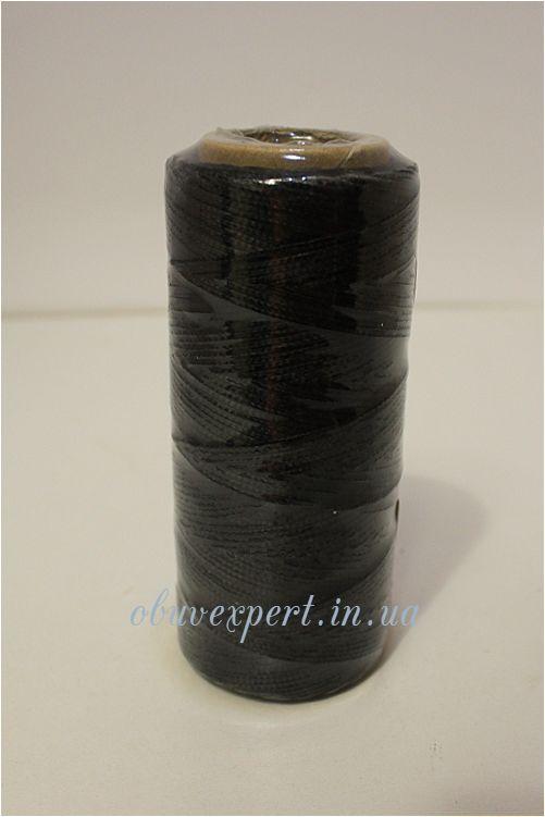 Нитка вощёная по коже (плоский шнур), т. 0,55 мм, 100 м, цв. черный