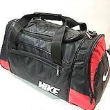 Дорожные спортивные сумки Nike из плащевки (черн+сер)29*57см, фото 3