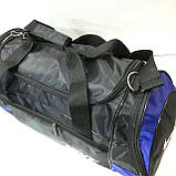 Дорожні спортивні сумки Nike з плащової тканини (чорний+сірий)29*57см, фото 5