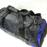 Дорожные спортивные сумки Nike из плащевки (черн+сер)29*57см, фото 5